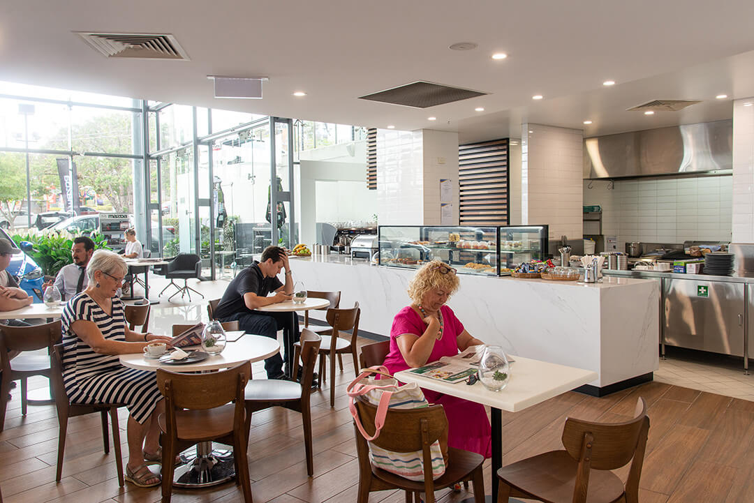 Toowong Mazda Cafe Wide Shot